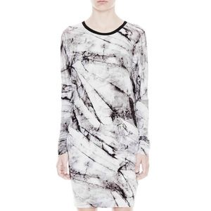 HELMUT LANG Terrene Print Jersey Tunic Dress